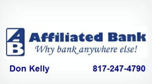 Affiliated Bank w Don Kelly Info